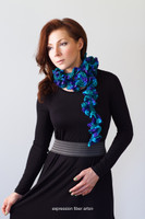 Through the Spectrum Crochet Spiral Scarf Pattern