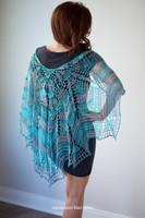 Stream of Consciousness Capelet Crochet Pattern