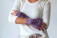 Beaded Fingerless Mitts Knitted Pattern