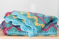 Squiggles Crochet Baby Blanket Pattern