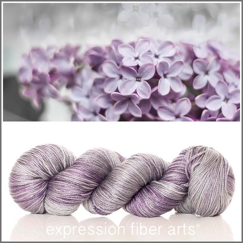 ICED LILAC 'LUSTER' SUPERWASH MERINO TENCEL SPORT