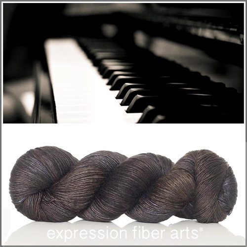 EBONY SUPERWASH MERINO SILK PEARLESCENT FINGERING