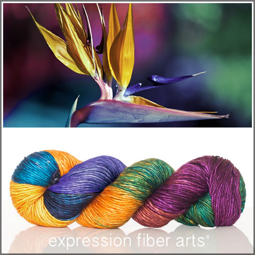BIRD OF PARADISE SUPERWASH MERINO SILK PEARLESCENT WORSTED