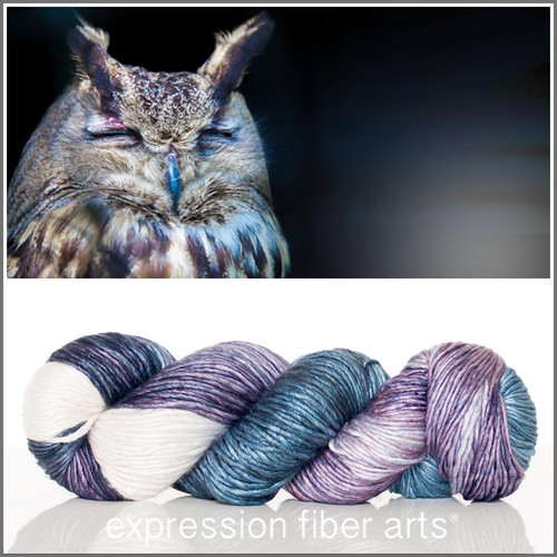 SLEEPING OWL SUPERWASH MERINO SILK PEARLESCENT WORSTED
