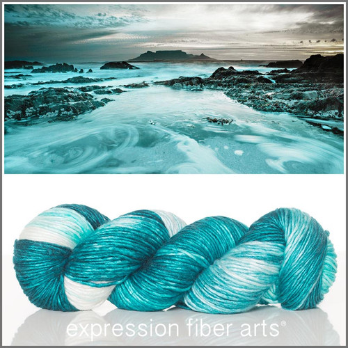 TIDAL POOL SUPERWASH MERINO SILK PEARLESCENT WORSTED