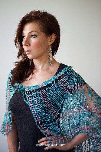 Stream of Consciousness Capelet Crochet Pattern