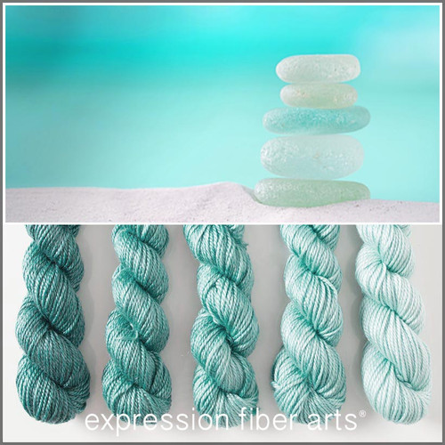 SEA GLASS HUES 'LUSTER' WORSTED MINI GRADIENT KIT