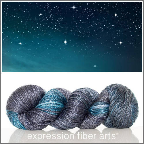 STARRY NIGHT 'LUSTER' SUPERWASH MERINO TENCEL WORSTED