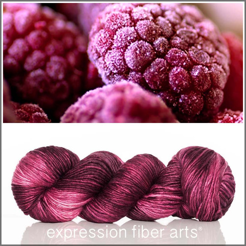 Pre-Order BERRY FREEZE SUPERWASH MERINO SILK PEARLESCENT WORSTED
