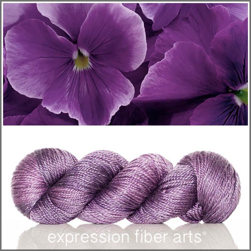 PANSY 'LUSTER' SUPERWASH MERINO TENCEL WORSTED