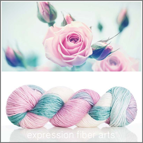JUNE ROSE SUPERWASH MERINO SILK PEARLESCENT WORSTED