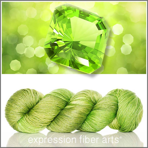 AUGUST PERIDOT 'LUSTER' SUPERWASH MERINO TENCEL SPORT