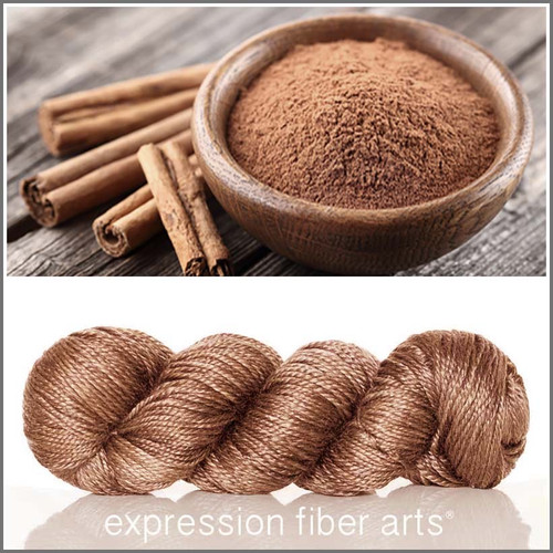 CINNAMON 'LUSTER' SUPERWASH MERINO TENCEL WORSTED