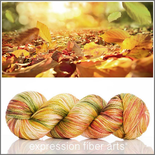 FALLING LEAVES 'LUSTER' SUPERWASH MERINO TENCEL WORSTED