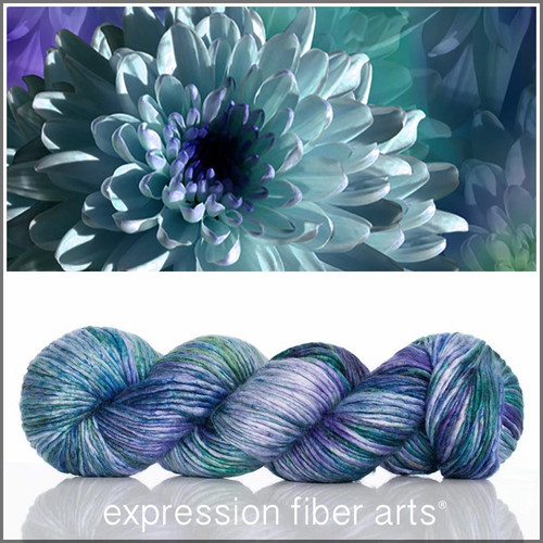 Pre-Order NOVEMBER CHRYSANTHEMUM SUPERWASH MERINO SILK PEARLESCENT WORSTED