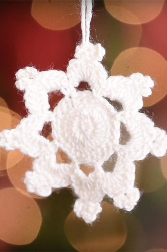 Snowflake v2 Crochet Ornament Pattern