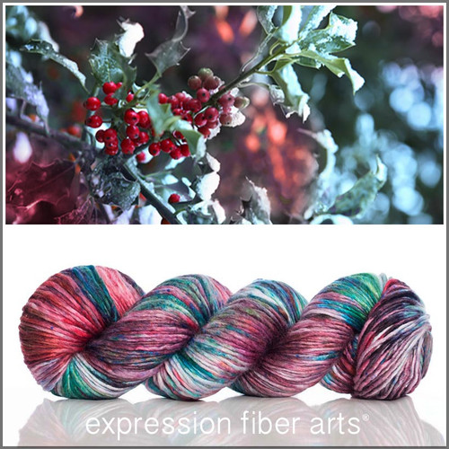 Pre-Order DECEMBER HOLLY SUPERWASH MERINO SILK PEARLESCENT WORSTED