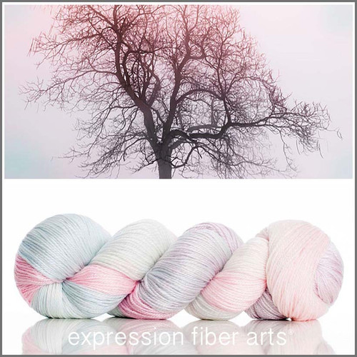 PINK FROST 'LUSTER' SUPERWASH MERINO TENCEL SPORT