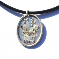 Friend Butterfly in pure silver