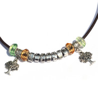 Balance Tree of Life Braille Letterbead Necklace