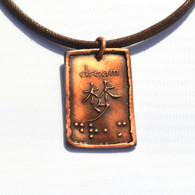 Dream in Chinese English and Braille Pendant DK