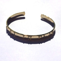 Walk by Faith Goldplated Cuff Braille Bracelet