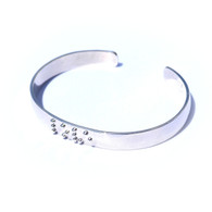 SALE!! LOVE Silverplated Cuff Braille Bracelet