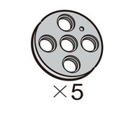 Pulley-Circle-L (SPO-4PR(GR)) 5pcs
