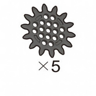 Sprocket (SPS-17(K)) 5pcs
