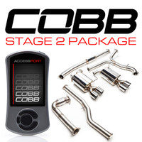 Cobb Tuning Subaru Stage 2 Power Package (Non-Resonated J-Pipe) WRX 6MT 2015-2016