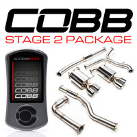 Cobb Tuning Subaru Stage 2 Power Package (Resonated J-Pipe) WRX 6MT 2015-2016
