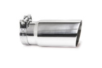 "3.0"" Polished Single Wall Exhaust Tip (2.5"" Clamp-On)"