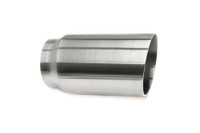 "3.0"" Brushed Single Wall Exhaust Tip (2.5"" Weld-On)"