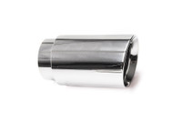 "3.0"" Polished Double Wall Exhaust Tip (2.5"" Weld-On)"