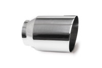 "4.0"" Polished Single Wall Exhaust Tip (3.0"" Weld-On)"