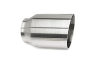 "4.0"" Brushed Single Wall Exhaust Tip (3.0"" Weld-On)"