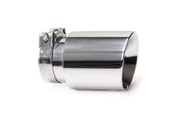 "4.0"" Polished Double Wall Exhaust Tip (3.0"" Clamp-On)"
