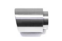 """4.0"""" Brushed Double Wall Exhaust Tip (3.0"""" Weld-On)"""