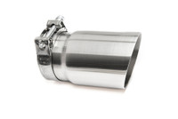 "3.5"" Brushed Single Wall Exhaust Tip (3.0"" Clamp-On)"