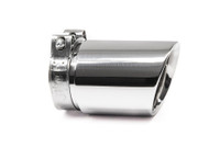 "3.5"" Polished Double Wall Exhaust Tip (3.0"" Clamp-On)"