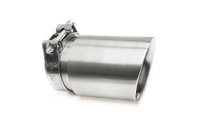 "3.5"" Brushed Double Wall Exhaust Tip (3.0"" Clamp-On)"