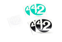 42 Black/Silver/Teal Colorway Sticker Pack
