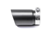 "3.5"" Black Single Wall Exhaust Tip (3.0"" Clamp-On)"