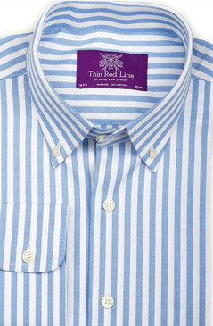 Oxford Blue Stripe (Semi-fitted)