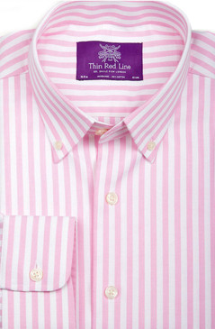 Oxford Pink Stripe (Semi-fitted)