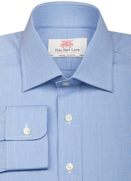 Small Gingham Blue (Slim fit)