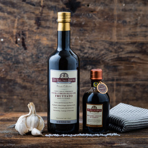 "Fruttato Extra Virgin Olive Oil & ""Bronze"" Barrel Aged Balsamic Vinegar"
