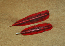 Northern Cardinal Feather Pin