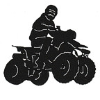 4 Wheel ATV Rider with Laser Etched Detail