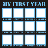 My First Year  - Boy - 12x12 Overlay